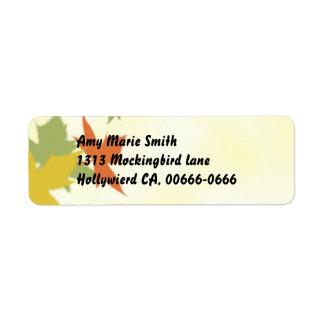 Autumn Maple Leaves Fantasy Address Label