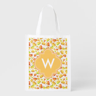 Autumn Maple leaves Grocery Bags