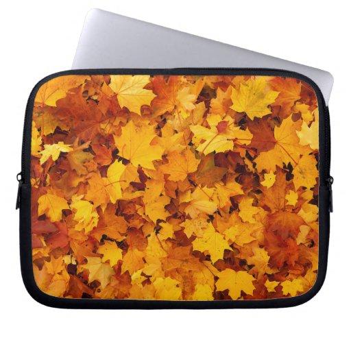 Autumn Maple Leaves Laptop Computer Sleeves