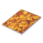 Autumn Maple Leaves Memo Note Pad