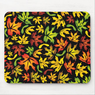 autumn maple leaves mouse pad