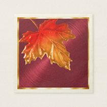 Autumn Maple Leaves Napkin