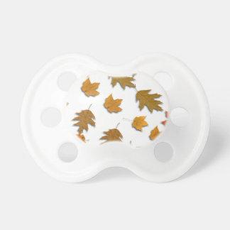 Autumn maple leaves pacifier