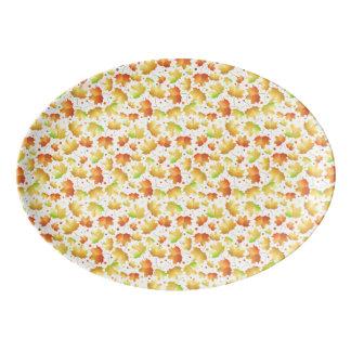 Autumn Maple leaves Porcelain Serving Platter