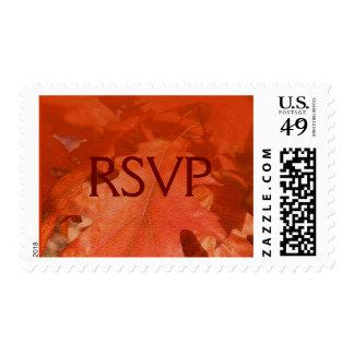 Autumn Maple Leaves RSVP Postage Stamp