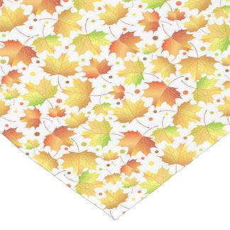 Autumn Maple leaves Short Table Runner