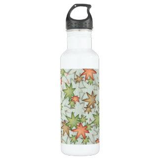 Autumn maple leaves stainless steel water bottle