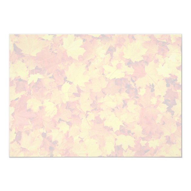 Autumn Maple Leaves Thanksgiving Dinner Party Card (back side)