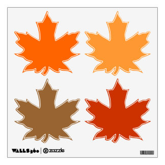 autumn maple leaves wall sticker