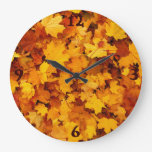 Autumn Maple Leaves Wallclocks