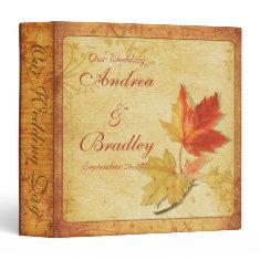 Autumn Maple Leaves Wedding Binder