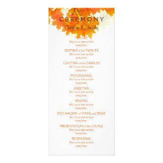Autumn Maple Leaves Wedding Program