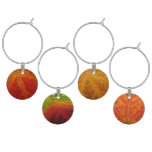 Autumn Maple Leaves Wine Glass Charm