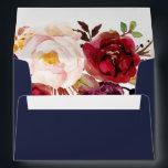 "Autumn Marsala Floral Addressed Wedding Envelope<br><div class=""desc"">Autumn Marsala Floral Addressed Wedding 5x7 Envelope for your special day!</div>"