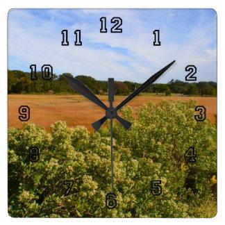 Autumn Marsh Wall Clock