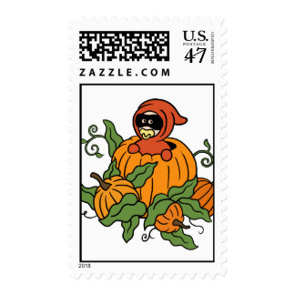 Autumn Masked baby in Pumpkin Postage