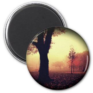 Autumn Melancholy 2 Inch Round Magnet