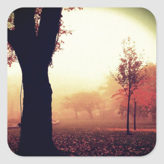 Autumn Melancholy Square Sticker