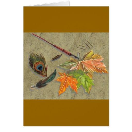 autumn memories greeting cards