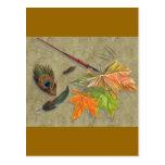 autumn memories post card