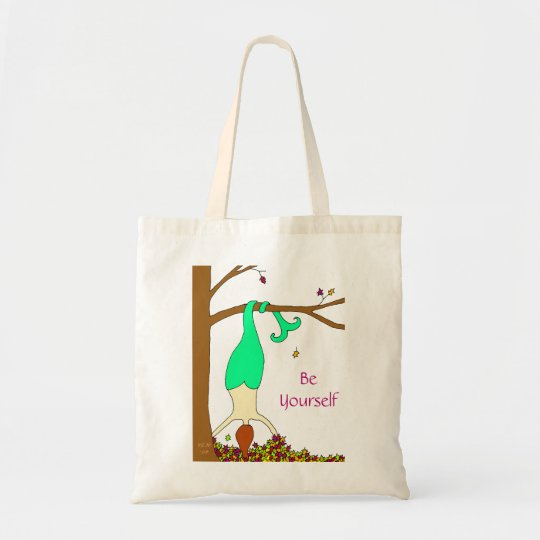 "Autumn Mermaid ""Be Yourself"" Tote Bag"