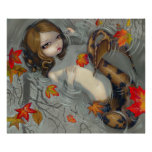 Autumn Mermaid fantasy Art Print