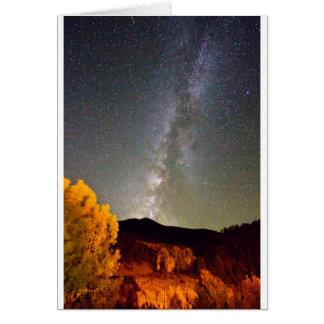 Autumn Milky Way Night Sky Card