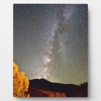 Autumn Milky Way Night Sky Photo Plaque