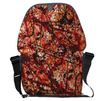 AUTUMN MIX (abstract art design) ~ Courier Bag