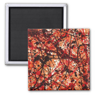 AUTUMN MIX (an abstract art design) ~ 2 Inch Square Magnet