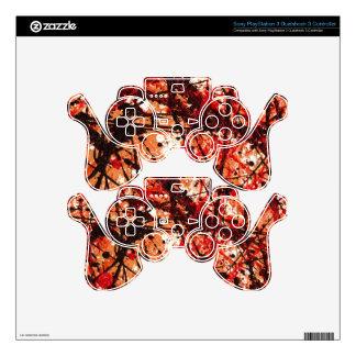 AUTUMN MIX (an abstract art design) ~ PS3 Controller Decals