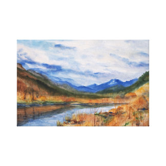 Autumn mood gallery wrapped canvas