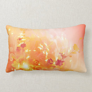 Autumn mood, foliage and flowers throw pillow