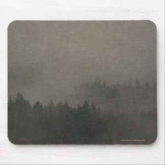 Autumn Moods Misty Forest Photo Art Nature Scene Mouse Pad