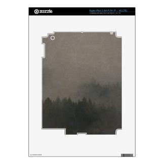 Autumn Moods Misty Forest Photo Art Nature Scene Skin For iPad 3