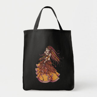 Autumn Moon Belly Dancer Tote Bag