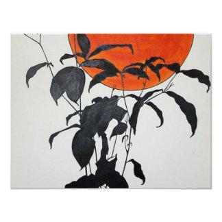 "Autumn Moon by Piliero 4.25"" X 5.5"" Invitation Card"