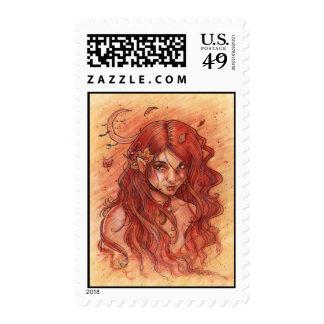Autumn Moon Postage Stamp