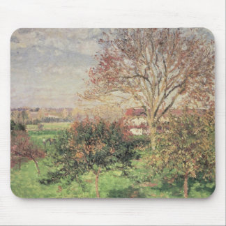 Autumn morning at Eragny, 1897 Mouse Pad
