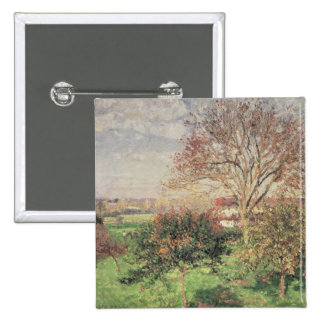 Autumn morning at Eragny, 1897 Pinback Button