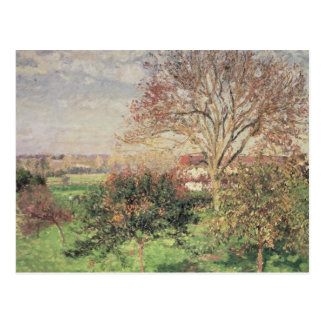 Autumn morning at Eragny, 1897 Postcard