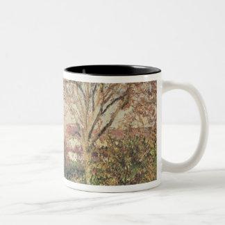 Autumn morning at Eragny, 1897 Two-Tone Coffee Mug
