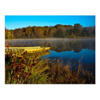 Autumn Morning at the Lake Postcard