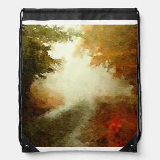 Autumn Morning Drawstring Backpack