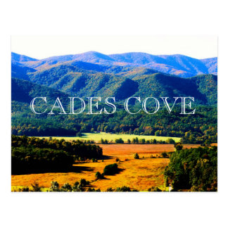 Autumn morning in Cades Cove Postcard