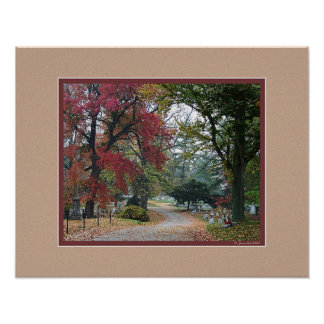 Autumn Morning in Frankfort Cemetery Poster