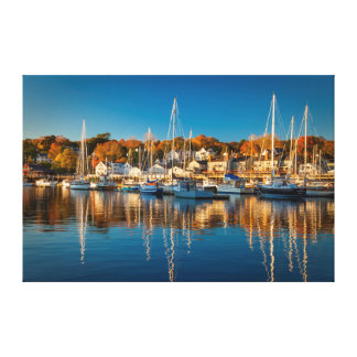 Autumn Morning In The Camden Harbor, Camden 2 Canvas Print