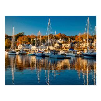 Autumn Morning In The Camden Harbor, Camden 2 Postcard