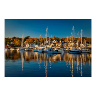 Autumn Morning In The Camden Harbor, Camden 2 Poster