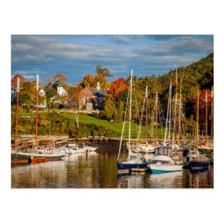 Autumn Morning In The Camden Harbor, Camden Postcard
